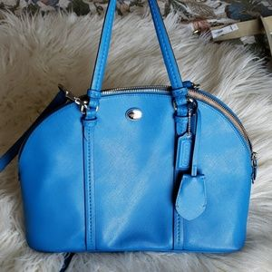 Cobalt Blue Coach Crossbody Bag Purse